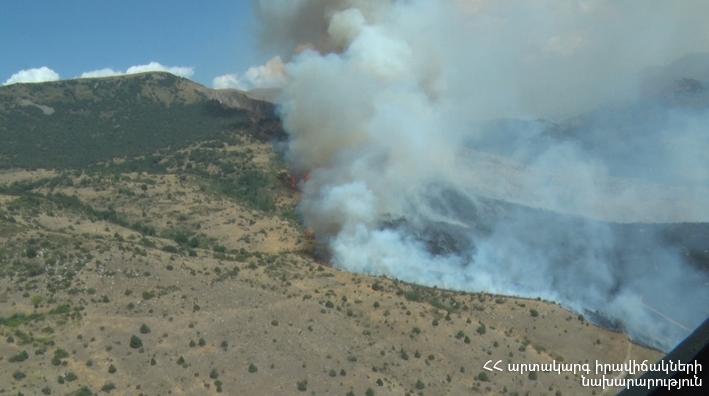 Խոսրովի անտառի ծխացող 20 օջախներից 14-ն արդեն մարվել են
